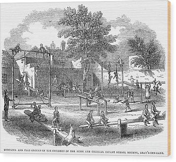 London Playground, 1843 Wood Print by Granger