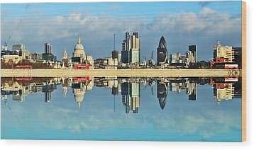 London Skyline Wood Print by Sharon Lisa Clarke