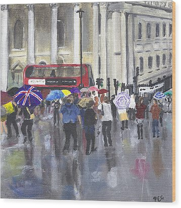 London - Summer 2012-1 Wood Print by Peter Edward Green