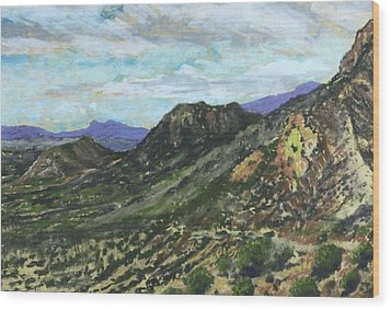 Lone Mountain Wood Print by Drusilla Montemayor