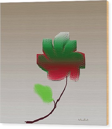 Wood Print featuring the digital art Lonely Beauty by Asok Mukhopadhyay
