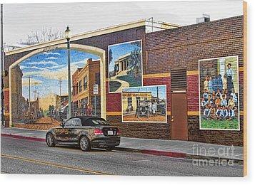 Old Town Santa Paula Mural Wood Print