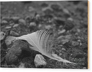Loner Wood Print by Susan Herber