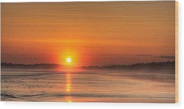 Long Beach Sunset Wood Print by Matt Dobson