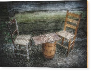 Long Gone Wood Print by Christine Annas