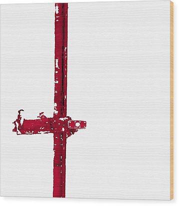 Long Lock In Red Wood Print by J erik Leiff