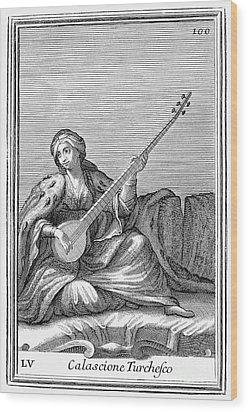 Long Lute, 1723 Wood Print by Granger
