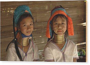 Long Neck Girls Wood Print by Bob Christopher