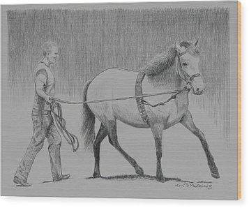 Long Reins Mallard Wood Print by Tomas OMaoldomhnaigh