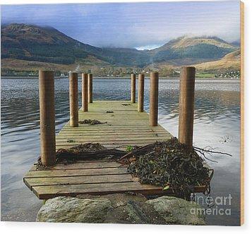 Wood Print featuring the photograph Long Walk Off A Short Pier by Lynn Bolt