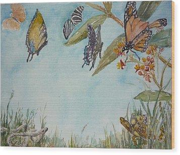 Look A Turtle Wood Print by Dorothy Herron