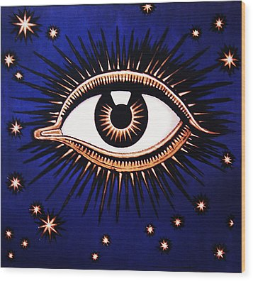 Look Em In The Eye Wood Print by Bill Cannon