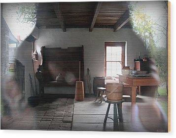Looking Back Wood Print by Karen Wiles