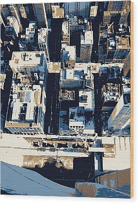 Looking Down Color 6 Wood Print by Scott Kelley