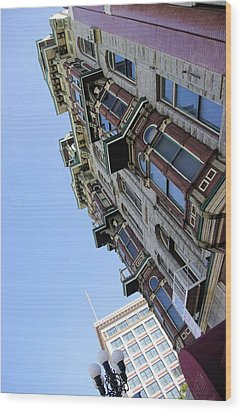 Looking Up From The Gaslamp Wood Print by John  Greaves