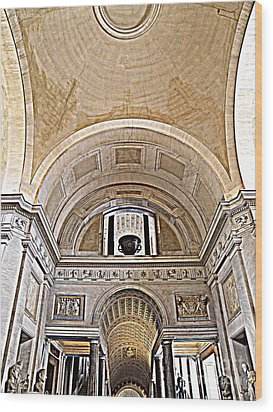 Wood Print featuring the photograph Looking Up. Vatican. Brown by Tanya  Searcy