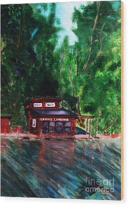 Loomis Landing Wood Print by Ayasha Loya