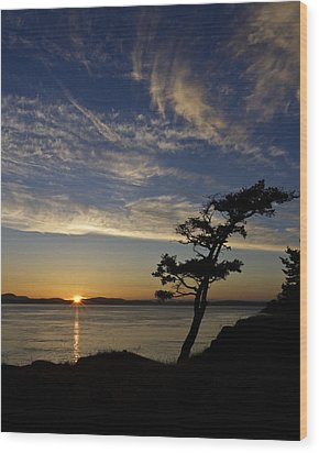 Lopez Island Sunset Wood Print