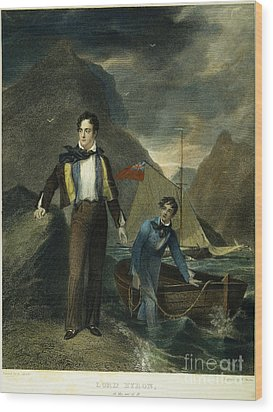 Lord Byron Wood Print by Granger