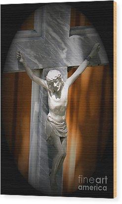 Lord Forgive Them II Wood Print by Al Bourassa