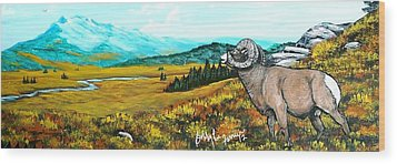Lord Over The Mountains Wood Print by Bobbylee Farrier