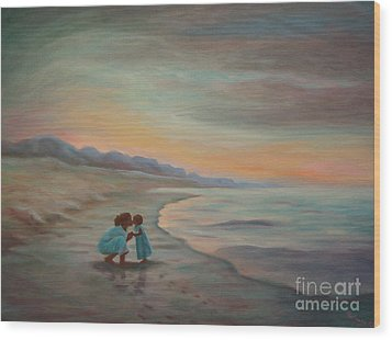 Wood Print featuring the painting Loren And Jewel by Gretchen Allen