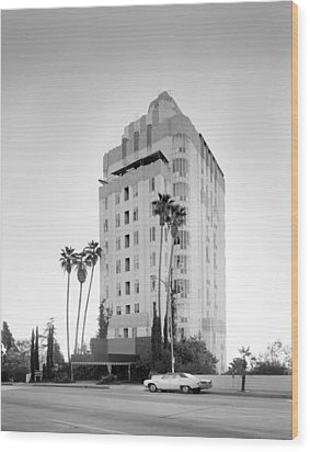 Los Angeles, Sunset Tower Apartments Wood Print by Everett