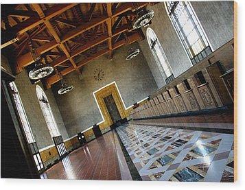 Los Angeles Union Station Terminal Wood Print by Jeff Lowe