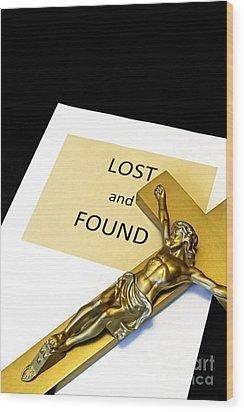 Lost And Found Wood Print by John Van Decker