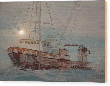 Lost At Sea Wood Print by Jim Cook