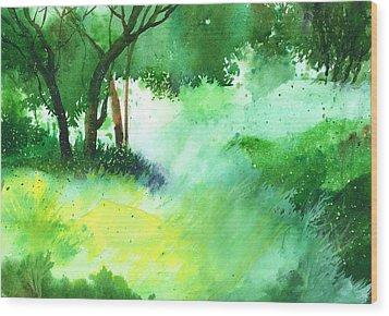 Lost In Thought Wood Print by Anil Nene