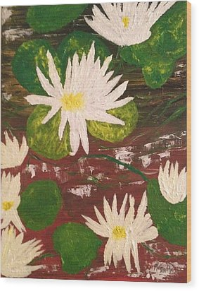 Lotus Flowers Wood Print by Pretchill Smith