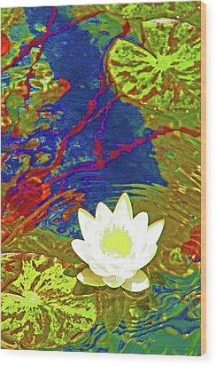 Lotus Wood Print by James Mancini Heath