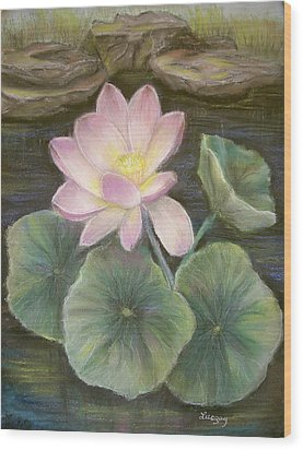 Wood Print featuring the painting Lotus by Luczay
