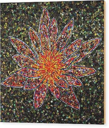 Lotus Rose Wood Print