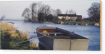Lough Neagh, Co Antrim, Ireland Boat In Wood Print by Sici