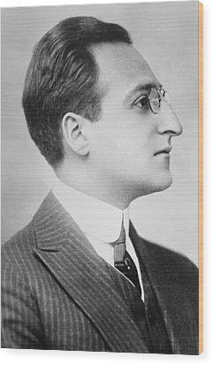 Louis Utermeyer 1885-1977 American Poet Wood Print by Everett