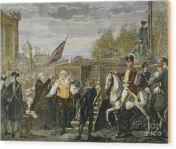 Louis Xvi: Execution, 1793 Wood Print by Granger