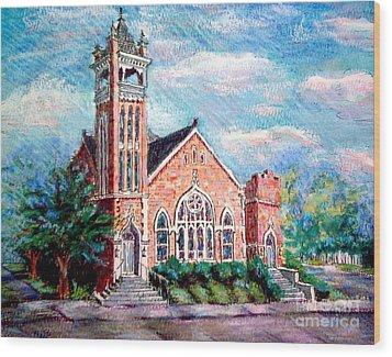 Louisiana Church Wood Print by Gretchen Allen
