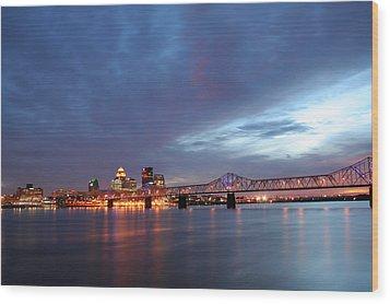Louisville Kentucky Wood Print by Darren Fisher