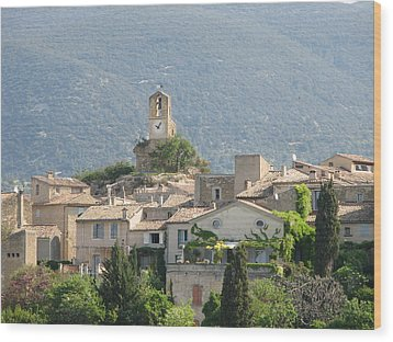 Lourmarin In Provence Wood Print by Carla Parris