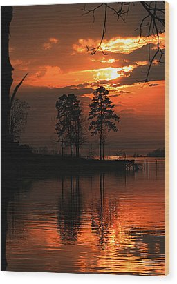 Lousiana Sunset Wood Print