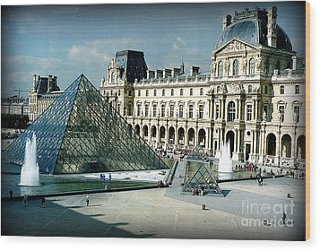 Wood Print featuring the photograph Louvre by Kathy Bassett