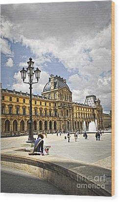 Louvre Museum Wood Print by Elena Elisseeva