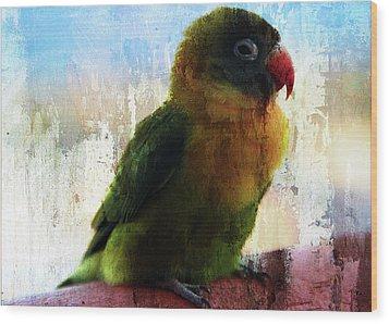 Lovbird Wood Print by Piet Scholten