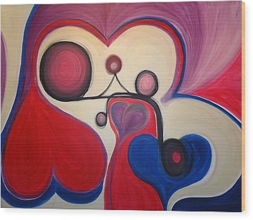 Love - To Have A Feeling Of Intense Desire And Attraction Toward. Wood Print by Cory Green