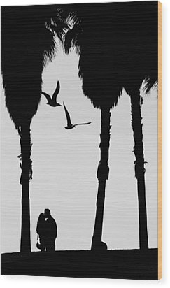 Love Birds Wood Print by Russell Styles