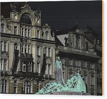 Love Each Other And Wish The Truth To Everyone - Jan Hus Prague Wood Print by Christine Till