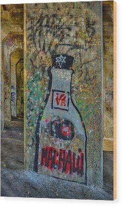 Love Graffiti Wood Print by Susan Candelario