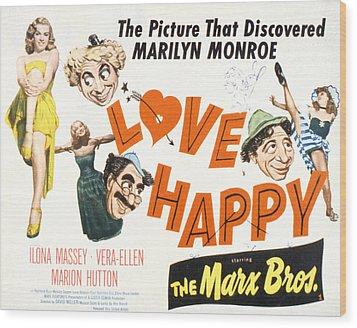 Love Happy, Marilyn Monroe, Marion Wood Print by Everett